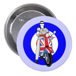 Scooterboy on uj scooter 3 inch round button