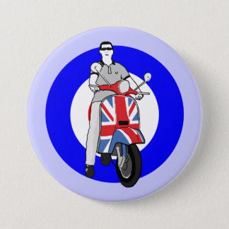Scooterboy on uj scooter pinback button
