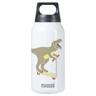 Scootering T-Rex Thermos Water Bottle
