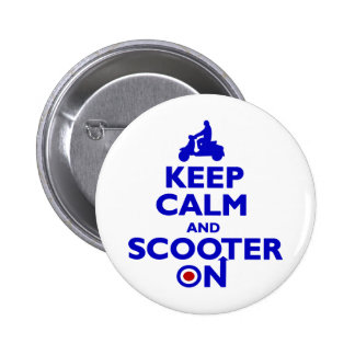 SCOOTERONBLUE 2 INCH ROUND BUTTON