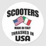 Scooters Made In Italy Thrashed in USA Sticker