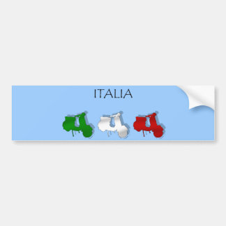 Scooters of Italy Italian Scooter Italia Logo flag Car Bumper Sticker