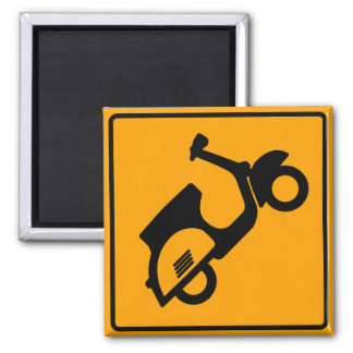 Scooters Road Sign 2 Inch Square Magnet