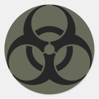 Scope Cap Sticker, Biohazard in Black