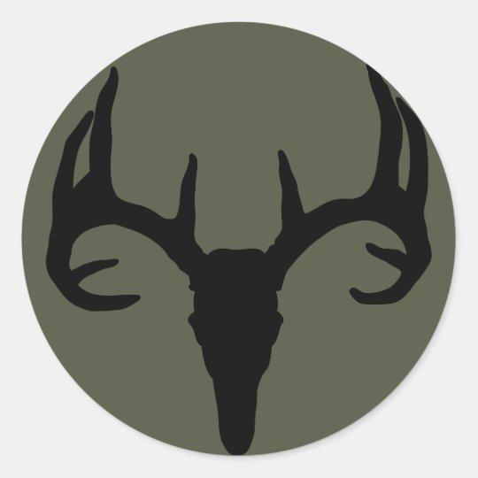 Scope Cap Sticker, Deer Skull Classic Round Sticker