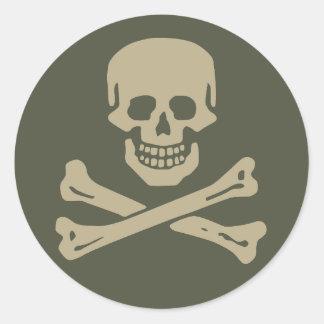Scope Cap Sticker, Jolly Roger - Style 1