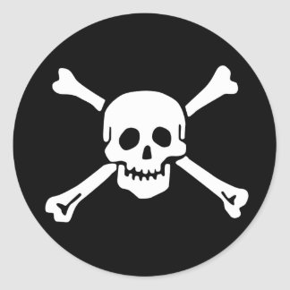 Scope Cap Sticker, Jolly Roger - Style 2