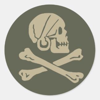 Scope Cap Sticker, Jolly Roger - Style 3