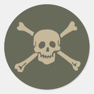 Scope Cap Sticker, Jolly Roger - Style 5