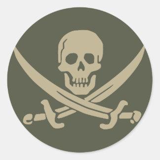 Scope Cap Sticker, Jolly Roger - Style 8