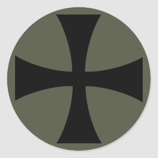 Scope Cap Sticker, Knights Templar Cross, Style 2
