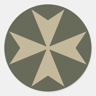 Scope Cap Sticker, Maltese Cross - Style 1