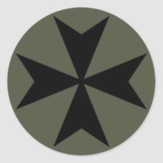Scope Cap Sticker, Maltese Cross - Style 2
