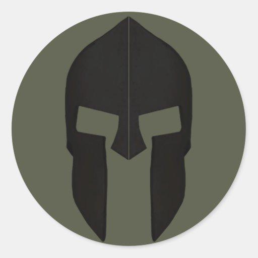 Scope Cap Sticker, Spartan Helmet - Style 1 Classic Round Sticker