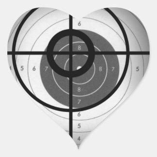 Scope Crosshair Heart Sticker