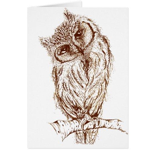 Scops owl by Inkspot Cards