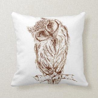 Scops owl by Inkspot Pillow