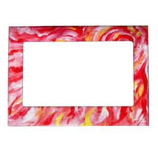Scorching Hot Flames Magnetic Picture Frame