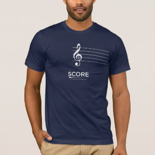 Score Blank Page Sheet Music Tee at Zazzle
