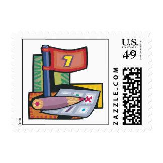 Score Card Postage Stamp