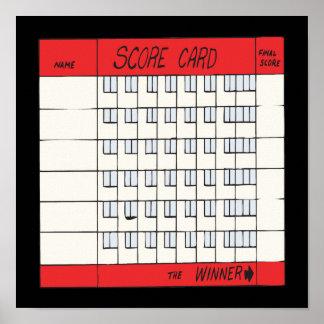 Score Card Print