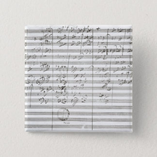 Score for the 3rd Movement of the 5th Symphony Button