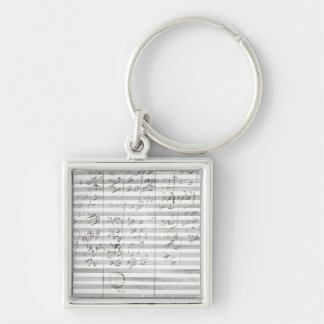 Score for the 3rd Movement of the 5th Symphony Keychain
