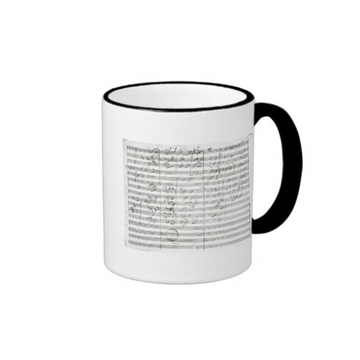 Score for the 3rd Movement of the 5th Symphony Mugs