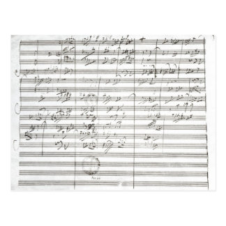 Score for the 3rd Movement of the 5th Symphony Postcard