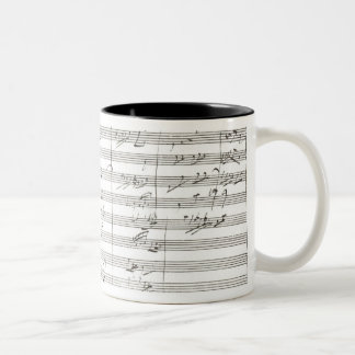 Score for the 3rd Movement of the 5th Symphony Two-Tone Coffee Mug