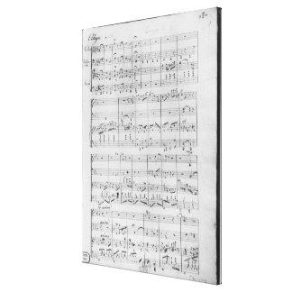 Score for trio for piano violin and violoncello canvas prints