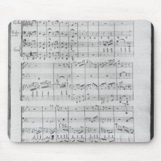 Score for trio for piano, violin and violoncello mouse pad