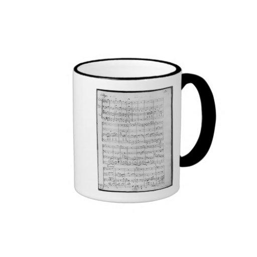 Score for trio for piano, violin and violoncello mugs