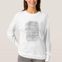 Score for trio for piano, violin and violoncello T-Shirt