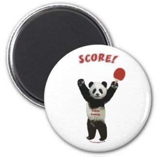 Score Panda Ping Pong 2 Inch Round Magnet
