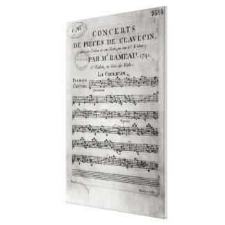 Score sheet for 'Concerts de Pieces de Canvas Print
