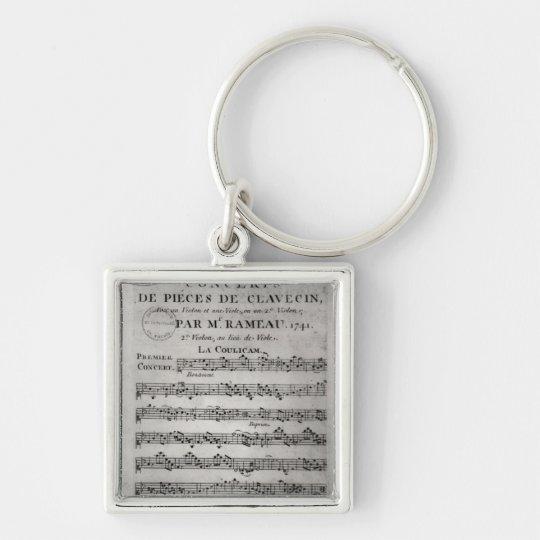 Score sheet for 'Concerts de Pieces de Keychain