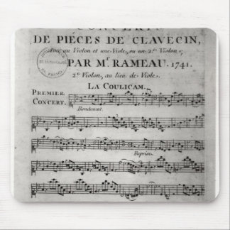 Score sheet for 'Concerts de Pieces de Mouse Pad
