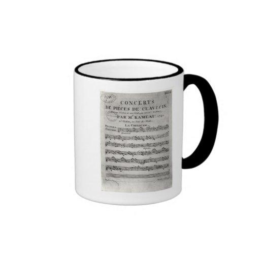 Score sheet for 'Concerts de Pieces de Mugs