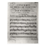 Score sheet for 'Concerts de Pieces de Postcard