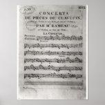 Score sheet for 'Concerts de Pieces de Poster