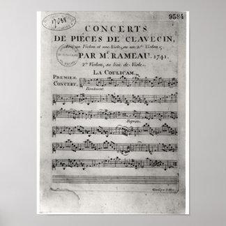 Score sheet for Concerts de Pieces de Posters
