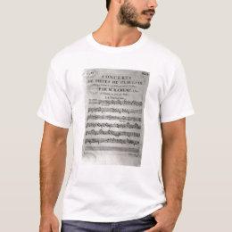 Score sheet for 'Concerts de Pieces de T-Shirt