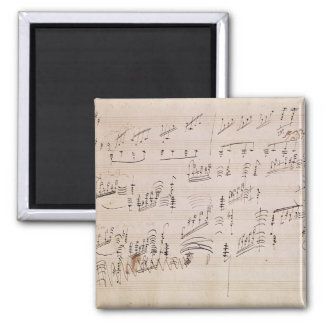 Score sheet of 'Moonlight Sonata' 2 Inch Square Magnet
