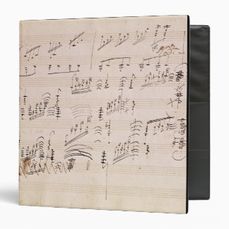 Score sheet of 'Moonlight Sonata' 3 Ring Binder