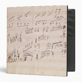 Score sheet of 'Moonlight Sonata' 3 Ring Binder