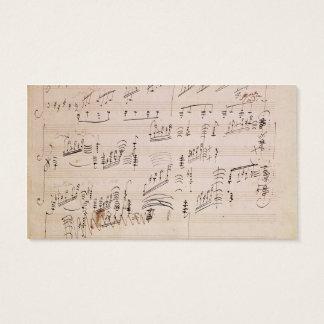 Score sheet of 'Moonlight Sonata' Business Card