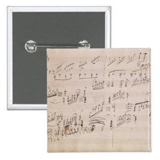 Score sheet of 'Moonlight Sonata' Button
