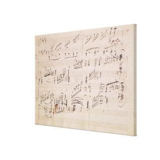 Score sheet of 'Moonlight Sonata' Canvas Print