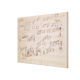 Score sheet of 'Moonlight Sonata' Canvas Prints